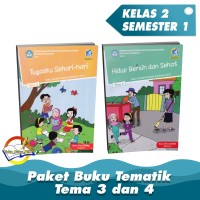 Paket Buku Tematik Kelas 2 Tema 3,4 Kurikulum 2013 Edisi Revisi 2017