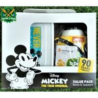 S 412 Value Pack Botol Minum dan Box Makan Anak Disney Mickey Lunch
