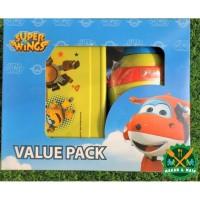 Value Pack Botol Minum dan Box Makan Anak Super Wing Lunch Box