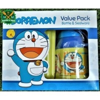 VP 432 DRWS Value Pack Botol Minum dan Box Makan Anak Doraemon Lunch