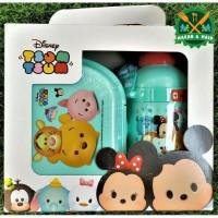Value Pack Botol Minum dan Box Makan Anak Disney Tsum Tsum Lunch Box