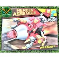 SY773B Mainan Anak Lego Action Figure Iron Man Warna Merah Dari Marvel