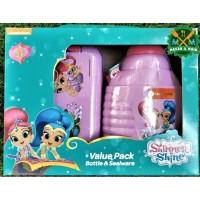 Value Pack Botol Minum dan Box Makan Anak Nicklelodeon Shimmer Lunch