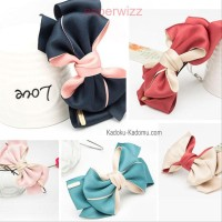 Aksesoris Jepit Rambut Ribbon Wanita Import Korea by wizz