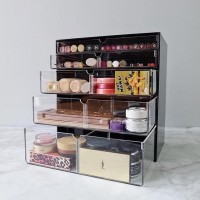 HOT SALE Extra Large Make Up Organizer Black - Acrylic Makeup