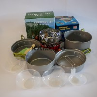 paket cooking set sy 301 plus kompor windproof merk kovar original