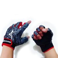 sarung tangan MI sepeda motor Gym setengah jari pendek - merah