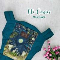 Paket CuddleMe LiteCarrier-Teethingpad&footstrap motif Moonlight