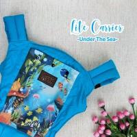 Paket CuddleMe LiteCarrier-Teethingpad&footstrap motif Under the sea