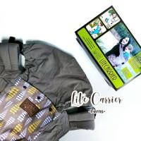 Paket CuddleMe LiteCarrier - Teethingpad dan footstrap motif Ferns