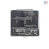 GUN ERASER MINI WEAPON BOX 4PCS | PENGHAPUS PISTOL MINI ISI 6