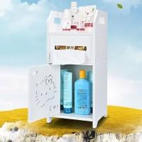 Meja kamar kabinet multifungsi lemari portable Rak toilet sabun tissue