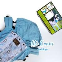 Paket CuddleMe LiteCarrier - Teethingpad dan footstrap motif Building
