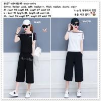 AB438249 Setelan Baju Atasan Celana Kulot Midi Wanita Korea Import