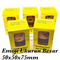 BONEKA EMOJI SMILE PER 1 SET 5 PCS - BONEKA PAJANGAN DASHBOARD MOBIL