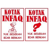 Stiker Cutting Kotak Infaq, Kotak Amal Stiker