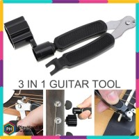 Guitar Tools 3 in 1 String Winder + Bridge Pins Puller + String Cutter