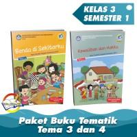 Paket Buku Tematik Kelas 3 Tema 3 dan 4 K.13 Revisi 2018