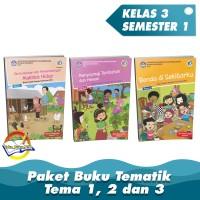 Paket Buku Tematik Kelas 3 Tema 1,2 dan 3 K.13 Revisi 2018