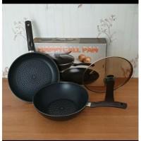 Panci Set Happy Call Diamond Wok & Fry Pan