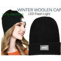 headlamp topi kupluk lampu LED senter cahaya LED Beanie hat camping