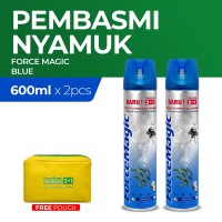 Force Magic Blue 600ml - Paket Hemat Isi 2 Free Pouch