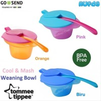 Tommee Tippee Cool and Mash Weaning Bowl with Lid and Spoon