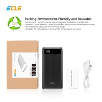 ECLE Power Bank 10000 mAh LCD Indicator Quick Charge 3.0 A Dual USB Po