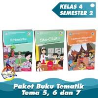 """Paket Buku Tematik SD Kelas 4 Tema 5,6,7 """" K.13 Revisi 2017"""