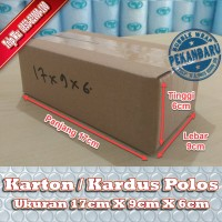 KARDUS BARU POLOS DI PEKANBARU   17x9x6cm