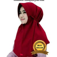 Khimar Simpel Pet Tali Hijab Jilbab Bergo Kerudung Instan Wolfis
