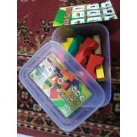 Mainan Kayu Edukasi - Balok Bangun MDF Bingkai A48 (kontainer)