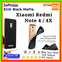 Casing SoftCase BlackMatte Slim Xiaomi Redmi Note 4/Note 4X (5.5inchi)