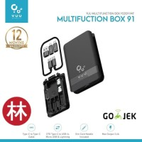 YUU Multifunction Box YCBS 91MF With Type-C Cable, Converter & OTG