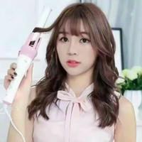 catokan rambut kriting ikel pink otomatis magic automatic hair curler