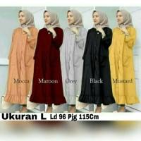 Velove long tunik Pakaian Wanita Muslimah Zahra Stores