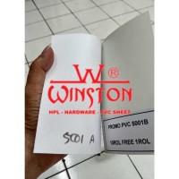 Decosheet PVC Sheet Warna Putih WINSTON Tekstur Kulit Jeruk