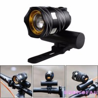 � � Lampu Depan Sepeda LED 300LM Zoomable T6