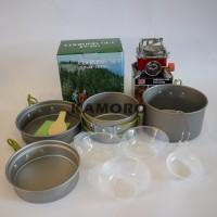 paket cooking set sy 301 plus kompor lipat kotak merk kovar original