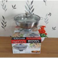 Serving Dish Bowl Tutup Kaca 28 Cm HC