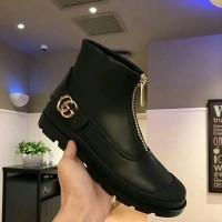 Sepatu Boots Formal Pria Kulit Mirror