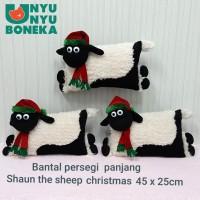 Bantal boneka Shaun the sheep 45cm natal merry chrismast souvenir
