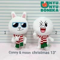 boneka Line cony moon 35cm natal merry chrismast souvenir