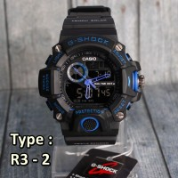 TERBARU !!! G Shock R-3 Hitam Jam tangan pria & anak dual time digital