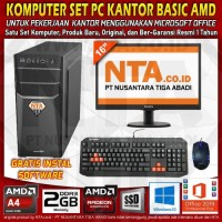 KOMPUTER SET PC KANTOR BASIC AMD