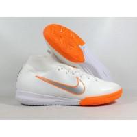 Sepatu Futsal Mercurial Superfly X VI Elite White Orange IC Replika Im