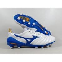 Sepatu Bola Mizuno Morelia Neo II White Blue FG Replika Impor
