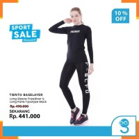 Pakaian Olahraga Wanita A8053 Tiento Baju Kaos Base layer Freediver