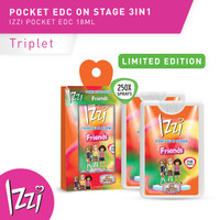 LIMITED EDITION IZZI Pocket Eau De Cologne On Stage Pack 18ml (isi 3)