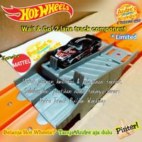 Hotwheels track builder 2 lane WaitnGo komponen ori Mattel Hot Wheels